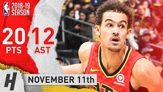 Trae Young Full Highlights Hawks vs Lakers 2018.11.11 - 20 Pts, 12 Assists