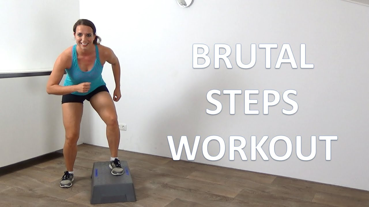 10 Minute Brutal Cardio Step Up Workout Intense Cardio