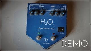 H2O Liquid Chorus & Echo Guitar Pedal by Visual Sound (Demo)