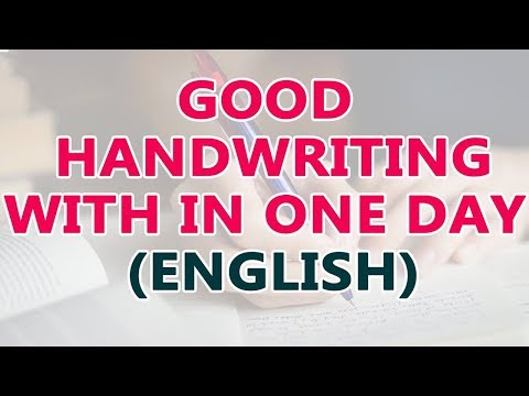 How to improve handwriting in english