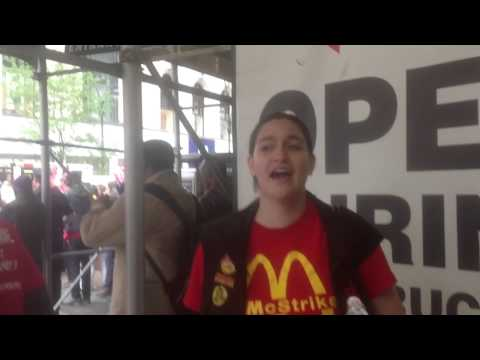 Unionized fast food worker