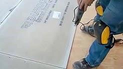 How to install backer board/durock for floor tile