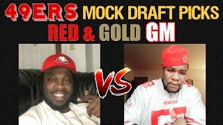 Live! 49ers Mock Draft Picks 2017 - Ronbo Sports Red & Gold GM EP 7 thumbnail