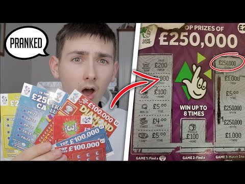 MY MUM PRANKED ME WITH A FAKE SCRATCH CARD (WINNING £250,000 PRANK)