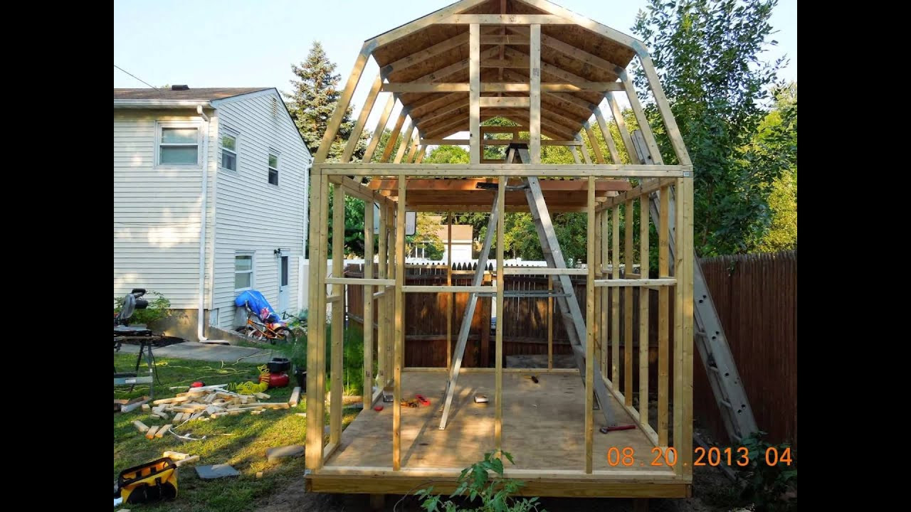 gambrel roof shed youtube gambrel roof shed