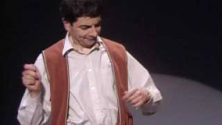 Rowan Atkinson Live - Star of Mr.Bean - Funny invisible drum