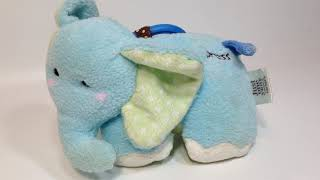 Carters Just One Year Baby Elephant Plush Stuffed Animal Blue Musical Lullaby