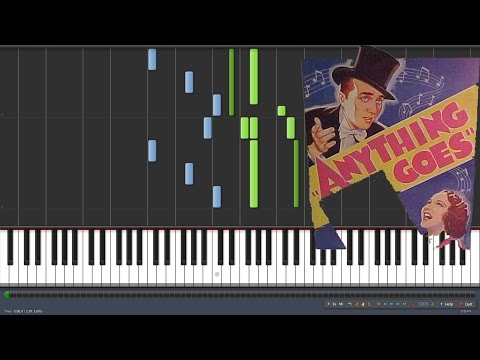 Anything Goes - Cole Porter - Fallout [Piano Tutorial] (Synthesia)