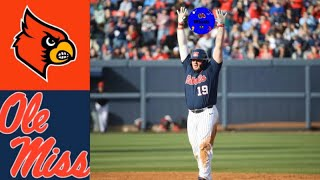 #2 Louisville vs #23 Ole Miss (Game 2) | 2020 College Baseball Highlights