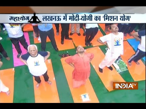 Yoga Day 2017: Yogi Adityanath, Ram Naik and others perform Yoga in Lucknow