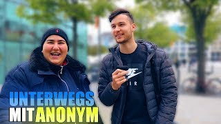 UNTERWEGS mit ANONYM !..😱 | STREETCOMEDY | Denizon