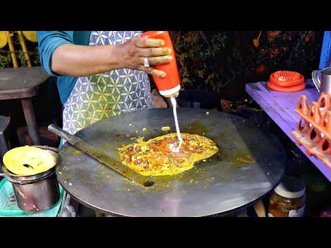 Delicious Omelette Alfiya With Desi Angara And 3 Gravy   Egg Street Food   Indian Street Food