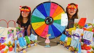 ΠΑΣΧΑ 2018 Πασχαλινός Τροχός Της Τύχης Αριάδνη και Άρτεμη παιχνίδια για παιδιά easter mistery wheel