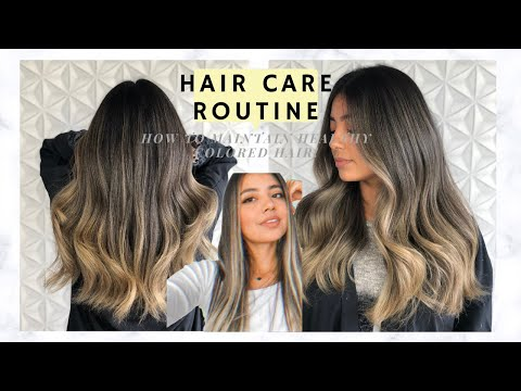 Hair Care Routine/How to Maintain HEALTHY Colored Hair   - YouTube
