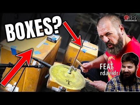 We Made A Drum Set Out Of BOXES | Stephen Taylor + Rdavidr Collab