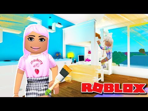 DECORATING MY DAUGHTER POPPYS BEDROOM | Bloxburg Roleplay | Roblox