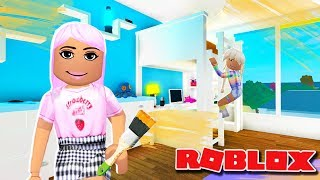 DECORATING MY DAUGHTER POPPY'S BEDROOM (fr) Bloxburg Roleplay - France Roblox