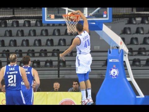 Ante Žižić 37 points   20 rebounds vs MZT Skopje 9/10/2016