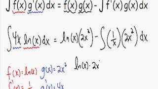 Integration By Parts - With Natural Log