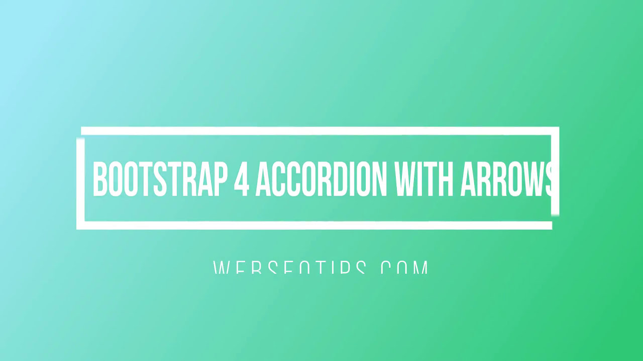 Bootstrap 4 Accordion With Arrow  Webseotips 17:41 HD