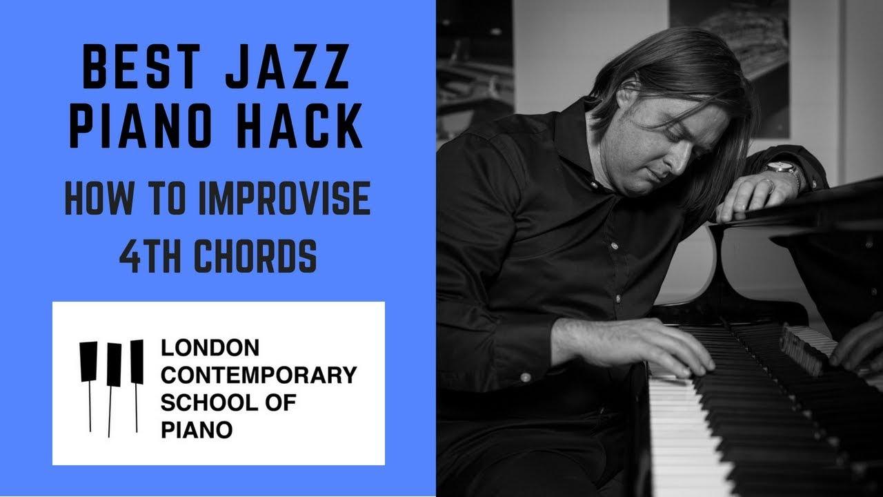 Jazz piano hack a big secret to playing jazz piano use perfect jazz piano hack a big secret to playing jazz piano use perfect 4th in your chords piano tutorial hexwebz Images