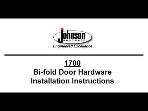 Johnson Hardware® 1700 Series Bi Fold Door Hardware Installation Video
