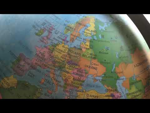 The European borders on this globe