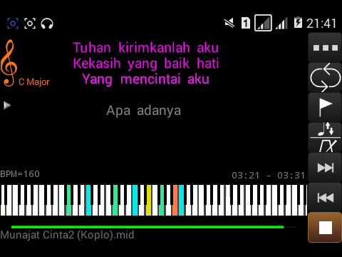 munajat cinta koplo karaoke lirik
