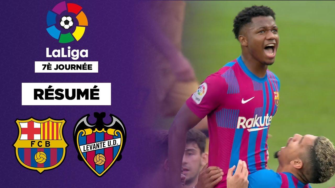 Download Résumé : Ansu Fati et Memphis portent le Barça contre Levante