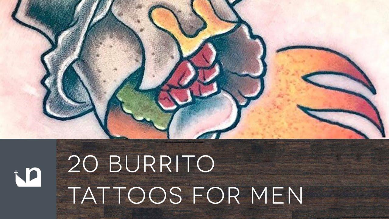 20 Burrito Tattoo Designs For Men – Food Ink Ideas