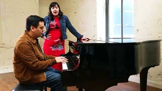 Kirsten Anderson-Lopez and Robert Lopez sing a lullaby