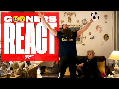 'He's our number 9!' | Sing-a-long with Nan & Beau | Slavia Prague vs Arsenal (0-4)