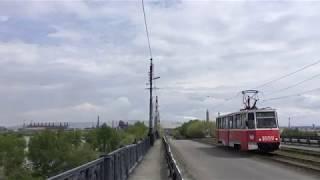 2019.5.23(木)13:28 マグニトゴルスクのトラム (ウラル川にかかる橋からの風景)