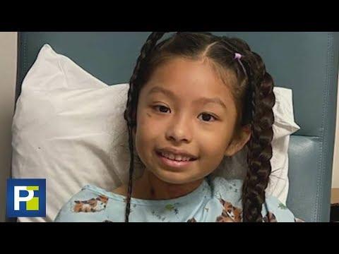 Una sonda en el pecho le ayuda a respirar: así es la recuperación de la niña baleada en Halloween