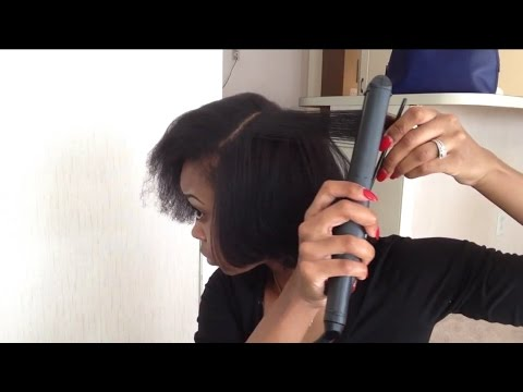 natural hair flat iron routine blow drying youtube