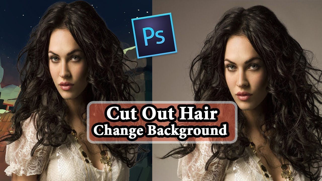 how to change my hair style how to cut out hair in photoshop amp change background 8567 | maxresdefault