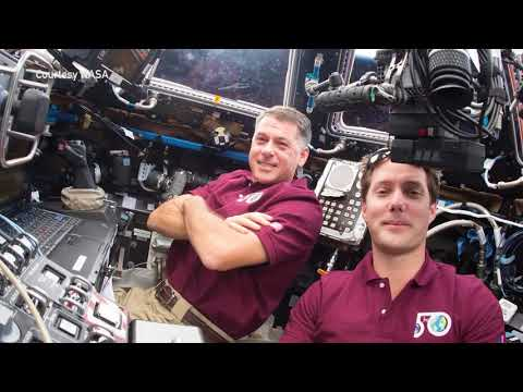 NASA Astronaut Col. Shane Kimbrough speaks to Baylor students