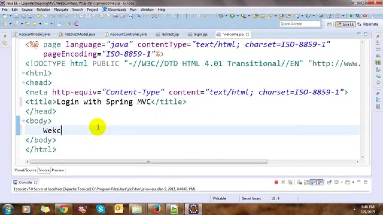 Spring MVC Login Form with Hibernate in Eclipse