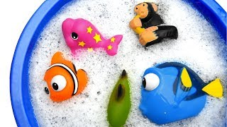 Learn Colors With Animals For Kids in Swimming Pool Sharks For Kids