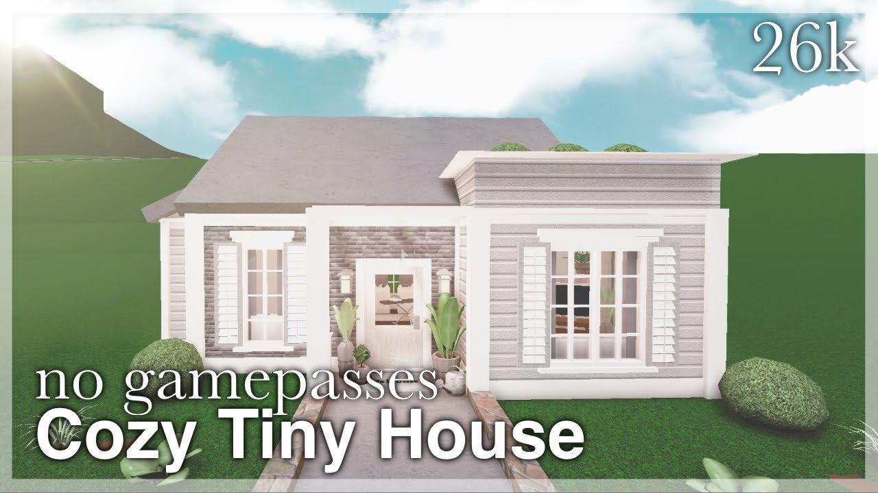 Bloxburg Cozy Tiny House Speedbuild (no gamepasses) YouTube