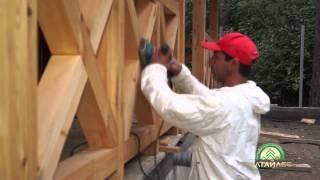 Как правильно покрасить дом из клееного бруса(этапы покраски деревянного дома из клееного бруса., 2015-07-27T05:01:07.000Z)
