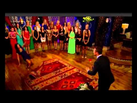 Jillian Anderson Falls at Rose Ceremony on The Bachelor 2015 Season 19