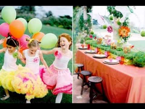 Garden birthday party ideas YouTube