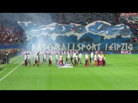 UEFA Champions League 2017/18 - Hymne, Choreo + Mannschaftsfoto  RB Leipzig vs. AS Monaco