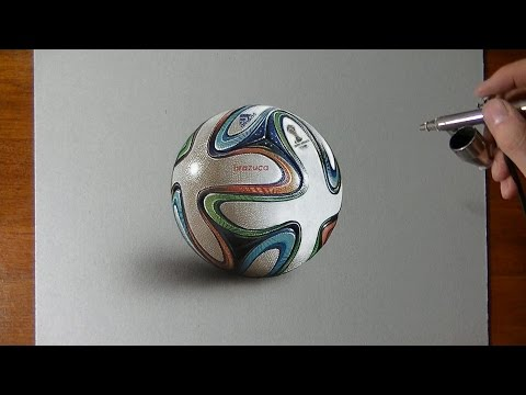 Drawing Time Lapse: Brazuca ball – hyperrealistic art
