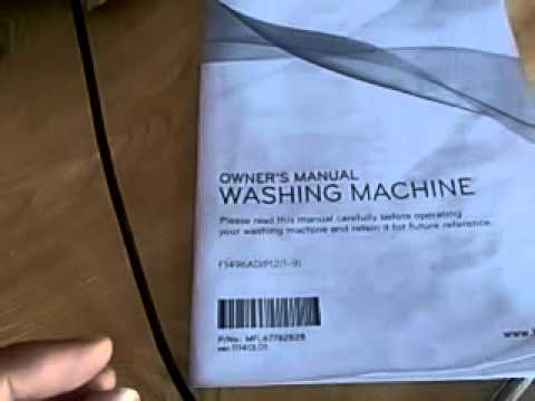 lg washing machine owners manual youtube rh youtube com lg washer service manual lg washer owner's manual for wm4370hka