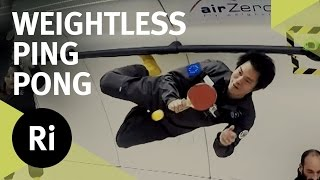Playing Ping Pong In Microgravity