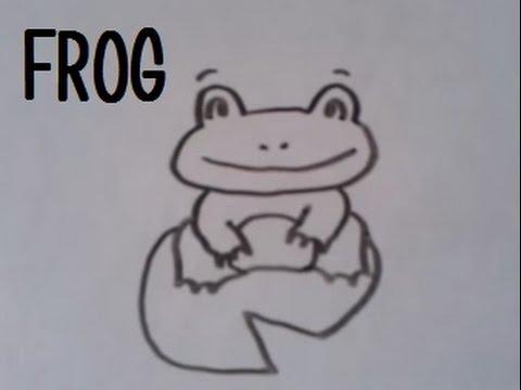 Dessiner une grenouille version 2 youtube - Dessiner une grenouille ...