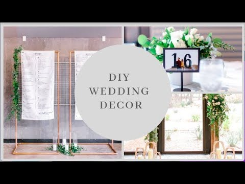 How I Made DIY WEDDING DECOR