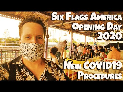 Six Flags America Opening Day 2020 - New COVID-19 Safety Procedures